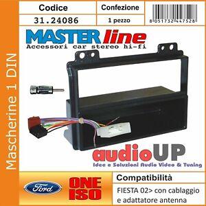 MASCHERINA AUTORADIO 1 DIN FORD FUSION /'02  NERO
