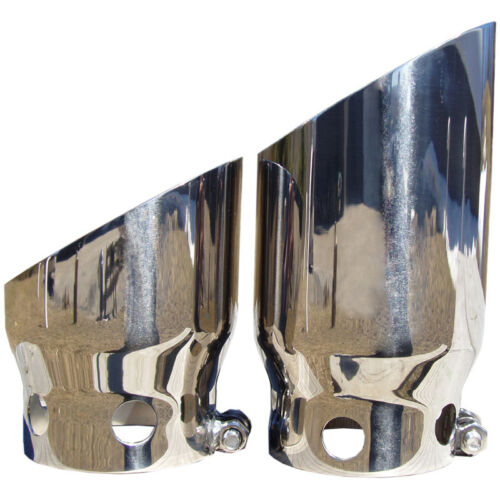"Stainless 4/"" Inlet 5/"" Outlet T5111 MBRP Angle Cut Exhaust Tip Set"