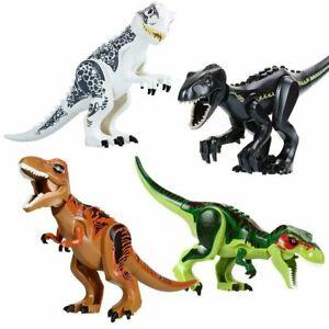 2pcs Indominus Rex XXL Large Full Size Dinosaur Figure Blocks Fit Lego Toys New