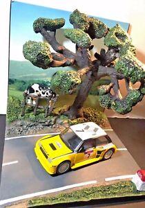 Diorama road national campaign + renault turbo tour corse maxi 82 1/43 new