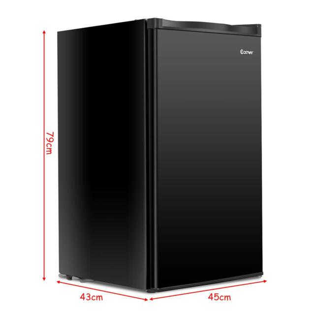Small Mini Dorm RV Home Compact Refrigerator Fridge W//Ice Tray Black 3.2 Cu.Ft
