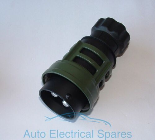 NATO 24V 2 Pin Towing Plug for LAND ROVER BEDFORD Military vehicles