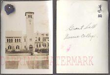 Vintage Photo Queen's College Grant Hall w/ Pledge Pin Ontario Canada 705025