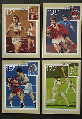 Maximumkarten Gb 1980:cpl.set Maximumkarte Mk Maximum Cards First Day Fdc Sport Phq 47a-d Briefmarken