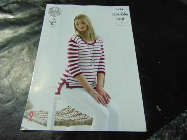 KING COLE DOUBLE KNITTING PATTERN 4834 Sweaters
