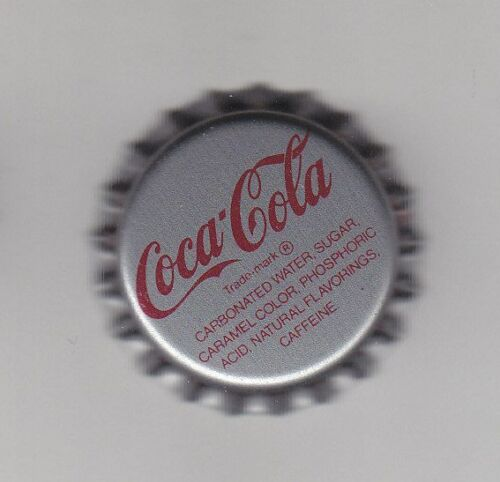 7UP Crafts Pepsi 1 PIECE COCA COLA BOTTLE METAL CAP SILVER USED NEVER CRIMPED.