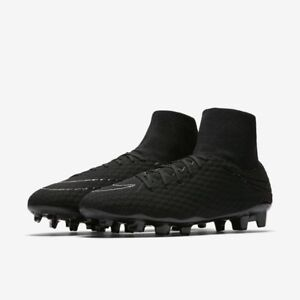 b06459dc181dad Nike Men s Hypervenom Phelon III DF FG Black 917764 size 13 10 9 9.5 ...
