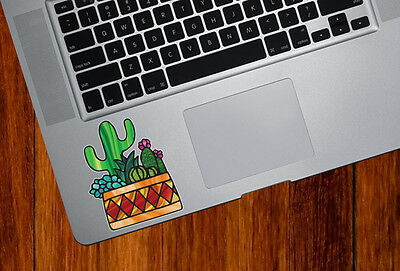 "Potted Cactus D3 Succulent Vinyl Car Decal ©YYDC CLR:CAR MED 5/""w x 6.5/""h"