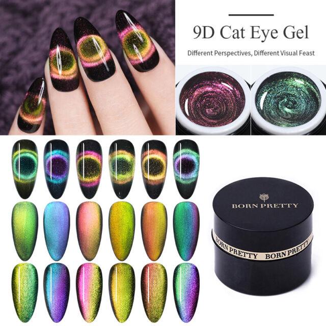 BORN PRETTY 5ml 9D Magnetic Cat Eye Gel Polish Soak Off UV Gel Nail Art Varnish