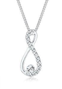 Elli Halskette Infinity Unendlichkeit Swarovski Kristall Silber