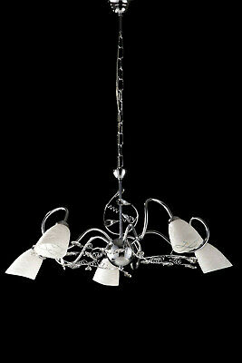 Lampadario moderno con cristalli 5 luci LGT Emma cromo | eBay