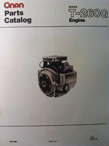 onan t-260g-ga024 hp engine parts manual garden tractor john deere sears  welder | ebay  ebay