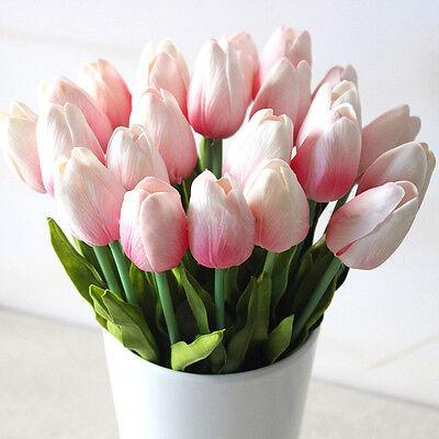 12/24Pcs Wedding Decor PU Tulip Artificial Wedding Home Design Bouquet Flowers