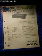 Sony Service Manual CDP C160Z / C260Z / CE215 / CE315 CD Player (#5098)