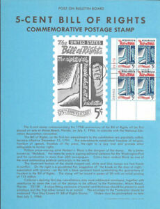 1312-Bill-of-Rights-Stamp-Poster-Unofficial-Souvenir-Page-Flat-HC-PB4