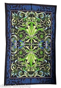 Tagesdecke-Wandbehang-Wandtuch-Uberwurf-Big-Leaf-Black-Leaf