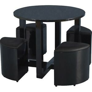 Small dining table and 4 chairs space saving furniture for Small table and 4 chair set