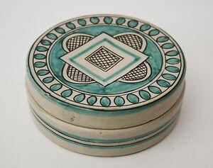 Vintage ceramic box cecconi orvieto round rometti vietri ebay