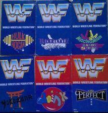 6 WWF Wrestling Pinboards Hulk Hogan Undertaker Macho Man Mr Perfect Yokozuna
