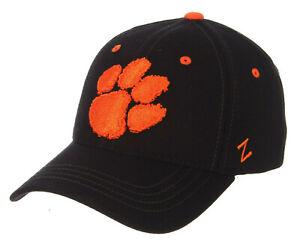 CLEMSON-TIGERS-NCAA-BLACK-FLEX-STRETCH-FIT-ELEMENT-CAP-HAT-ADULT-Z-FIT-SIZES-NWT