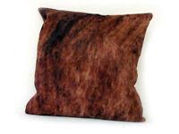 "Cowhide Pillow Cover Cushion Cow Hide Hair on cover 20"" x 20""."