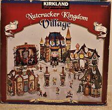 KIRKLAND NUTCRACKER KINGDOM VILLAGE Motion Lights HUGE SET Christmas Winter 2001