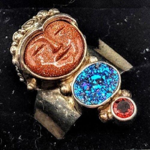 Pink Agate Carved Face Red Garnet Quartz Goddess Gemstone Pendant  Carved Goddess Face Gemstone  925 Sterling Silver Pendant