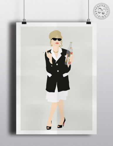 PATSY STONE Minimalist Movie Poster Wall art Posteritty Absolutely Fabulous