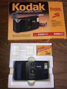 KODAK-S300MD-35MM-Camera-Kodak-Camera-Film-1987-Vintage-Camera-With-Box