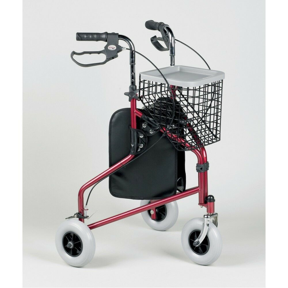 s l1600 - Three Wheeled Rollator Walker Tri Walker Mobility Walking Aid With Basket