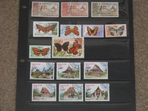 Laos, 3 sets, Used and MNH