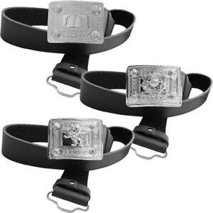 Tartanista Mens Celtic Brown Leather Kilt Belt /& Chrome Buckle