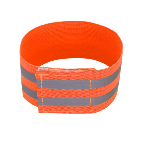 8pcs Reflective Bands for Arm High Visibility Night Cycling Tape Orange