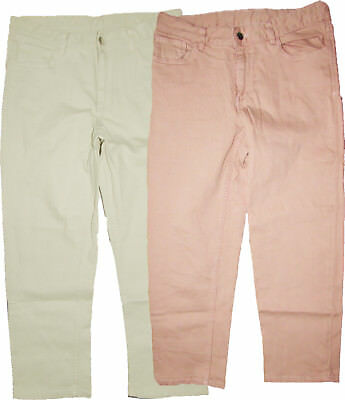 M/&S Ladies Womens Crop Jean Regular Relaxed Slim Mid Rise Natural /& Blush Pink