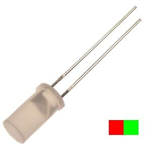 10-LEDs-5mm-zylindrisch-L-483-SRSGWT-Kingbright-DUO-LED-BI-COLOR-rot-gruen-104186