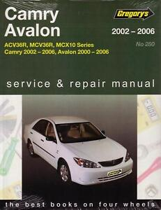 gregorys repair manual toyota camry avalon 2002 2006 ebay rh ebay com au Diagram 2002 Toyota Camry Le 2002 Toyota Camry Le