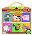 Green Start Farm Friends Wooden Puzzle 9781601690401 by Ikids