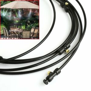 Details about Outdoor Misting System Set Patio Cooling Mister Kit Pool Deck  Air Cooler 30FT