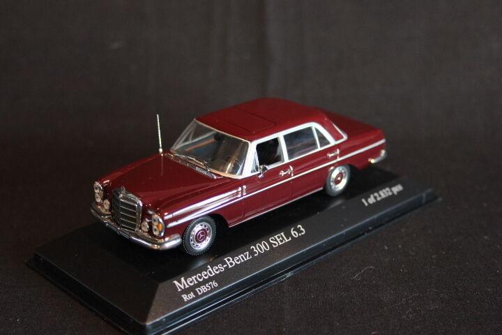 Minichamps Mercedes-Benz 300 SEL 6.3 1968 - 1972 1 43 rouge DB576 (JS)