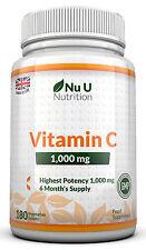 Vitamine C 1000mg Nu U Grande Force 180 grande force comprimés 100% Garantie