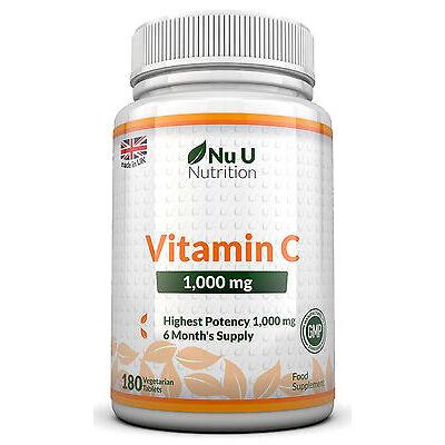 Vitamin C 1000mg 180  tablets not capsules High Strength 100% Guarantee