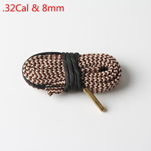.32Cal&8mm Caliber Bore Snake Cleaning Boresnake Brush Cleaner Kit