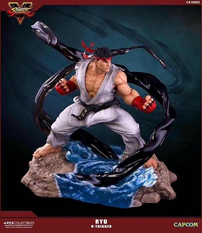 Street Fighter Ryu V-gatillo 1 6 Escala Estatua Capcom Pop Culture Shock