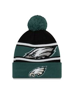 6d893b6e1f3b6 Philadelphia Eagles New Era Sport Knit Call Out Cuffed Pom Knit Hat ...