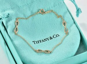 Tiffany-amp-Co-18K-Rose-Gold-Endless-Infinity-Love-Bracelet-6-75-IN-BOX-POUCH