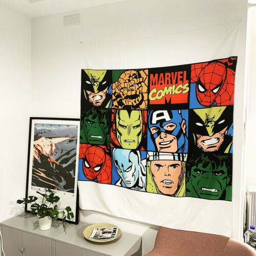 New Marvel Spiderman Tapestry Wall Hanging Cloth Home Room Decoration 130*150cm