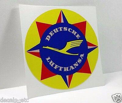 Deutsche Lufthansa Vintage Style Travel Decal, Vinyl Sticker, Luggage Label