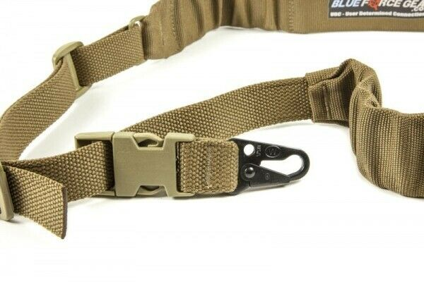 bluee Force Gear UDC-200-BG-HK-CB Single Point Padded Sling HK Style Coyote Brown