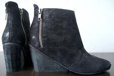 ASH KIMONO Stiefeletten Leder Ankle Boots Damen Halbstiefel Black Gr.37 NEU