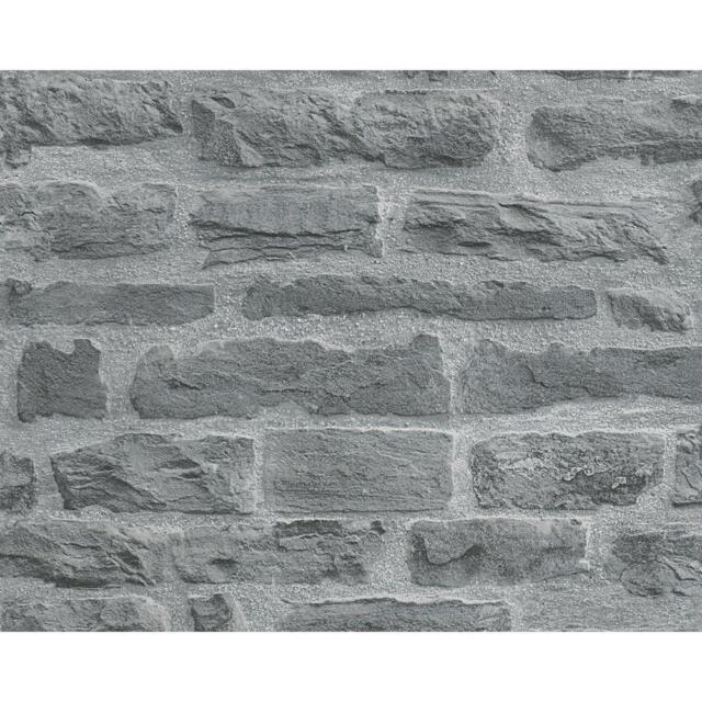 AS Creation Stone Brick Wallpaper Realistic Faux Effect Embossed Motif 319442